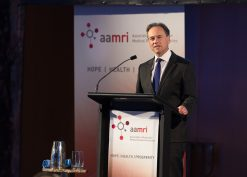 Photographed at the AAMRI dinner event in the Great Hall, Parliament House, Canberra. 6 December 2017. Photo: Bradley Cummings